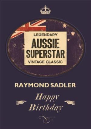 Greeting Cards - Aussie Superstar Personalised Name Card - Image 1