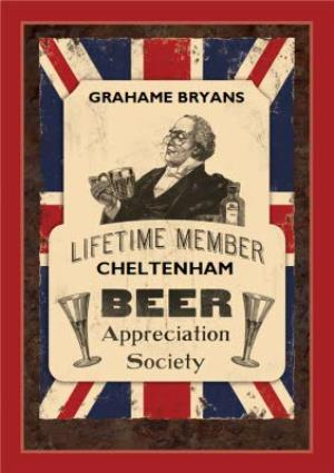 Greeting Cards - Beer Society Birthday Card - Image 1
