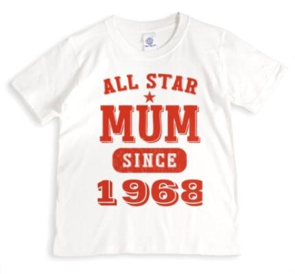 T-Shirts - Mother's Day All Star Mum Red Personalised T-shirt - Image 1