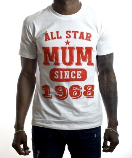 T-Shirts - Mother's Day All Star Mum Red Personalised T-shirt - Image 2
