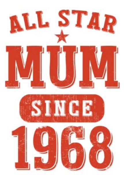 T-Shirts - Mother's Day All Star Mum Red Personalised T-shirt - Image 4