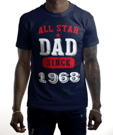T-Shirts - Father's Day All Star Personalised T-shirt - Image 2