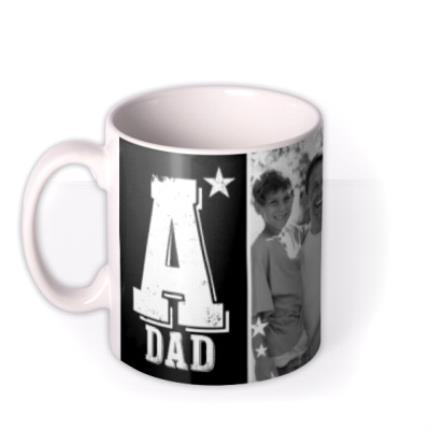 Mugs - Father's Day A-Star Dad Photo Upload Mug - Image 1