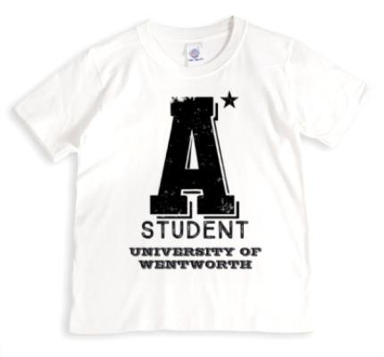 T-Shirts - A* Student Personalised T-shirt - Image 1