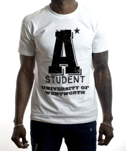 T-Shirts - A* Student Personalised T-shirt - Image 2
