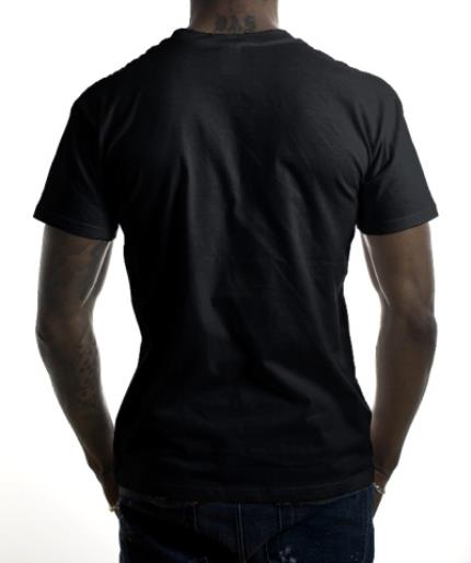 T-Shirts - Father's Day A* Dad Black Personalised T-shirt - Image 3