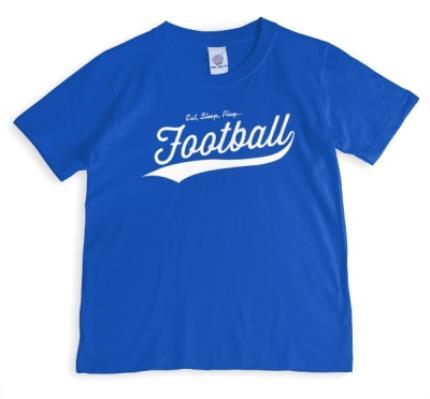 T-Shirts - Football Eat, Sleep, Play.. Personalised T-shirt - Image 1