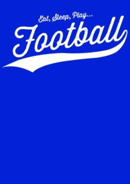 T-Shirts - Football Eat, Sleep, Play.. Personalised T-shirt - Image 4