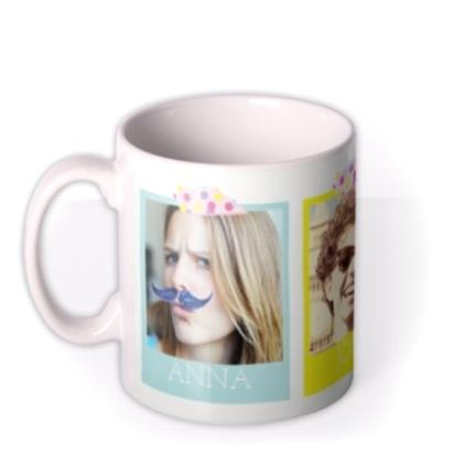 Mugs - Coloured Trio Photo Upload Mug - Image 1