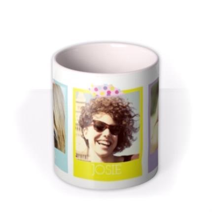 Mugs - Coloured Trio Photo Upload Mug - Image 3