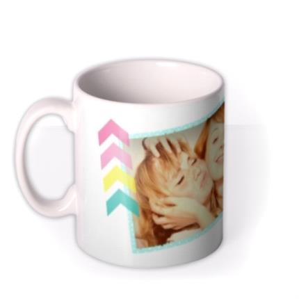 Mugs - Happy Birthday Pink Tag Photo Upload Mug - Image 1