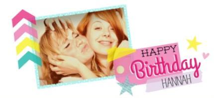Mugs - Happy Birthday Pink Tag Photo Upload Mug - Image 4