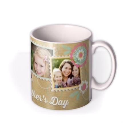 Mugs - Mother's Day Brown Paper Collage Photo Upload Mug - Image 2