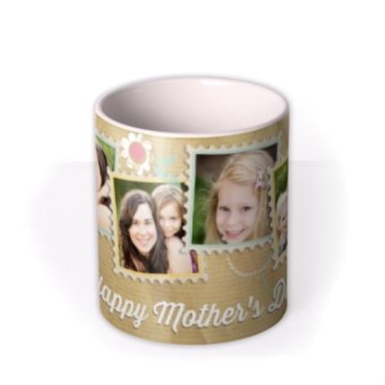 Mugs - Mother's Day Brown Paper Collage Photo Upload Mug - Image 3
