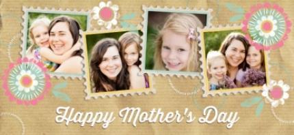 Mugs - Mother's Day Brown Paper Collage Photo Upload Mug - Image 4
