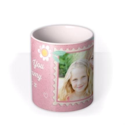 Mugs - Mother's Day Pink Stamp Photo Upload Mug - Image 3