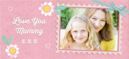 Mugs - Mother's Day Pink Stamp Photo Upload Mug - Image 4