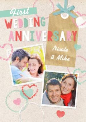 Greeting Cards - 1st Anniversary Card - Image 1