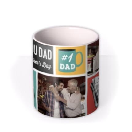 Mugs - Father's Day #1 Dad Photo Upload Mug - Image 3