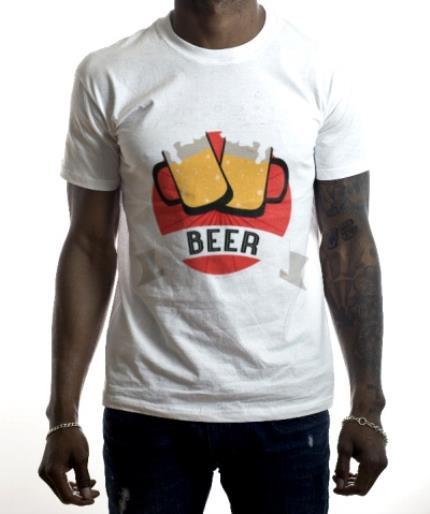 T-Shirts - Cheers To Beer Personalised Text T-Shirt - Image 2