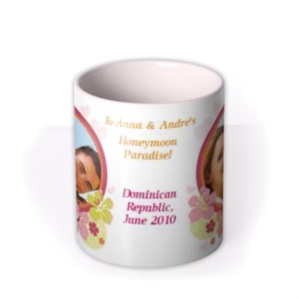 Mugs - Honeymoon Paradise Photo Upload Mug - Image 3