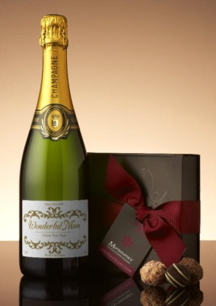 Alcohol Gifts - Personalised Champagne & Truffles - Image 1