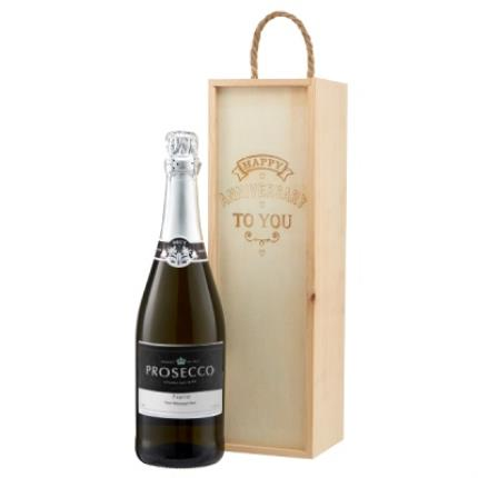Alcohol Gifts - Personalised Prosecco Anniversary Gift Box - Image 1
