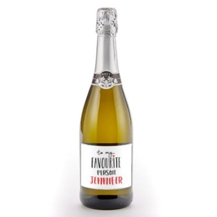 Alcohol Gifts - 'To My Favourite Person' Personalised Prosecco - Image 1
