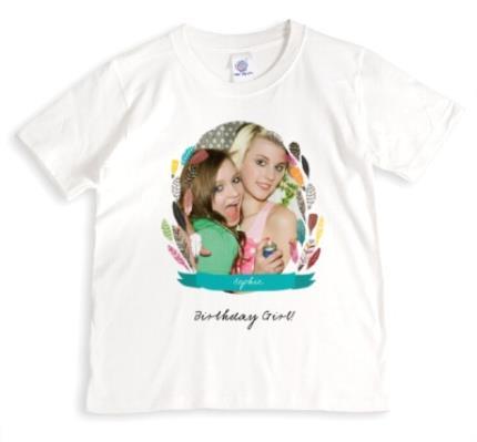 T-Shirts - Feather Frame Photo Upload T-shirt - Image 1
