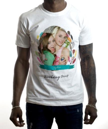 T-Shirts - Feather Frame Photo Upload T-shirt - Image 2