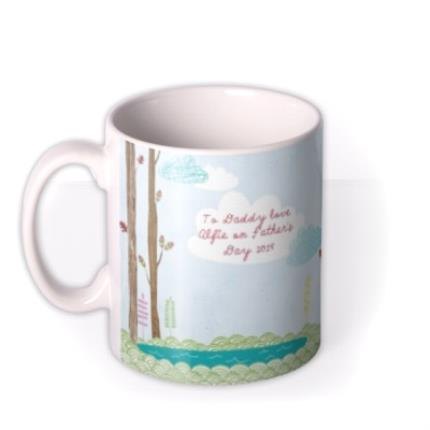 Mugs - Father's Day Bear Personalised Mug - Image 1