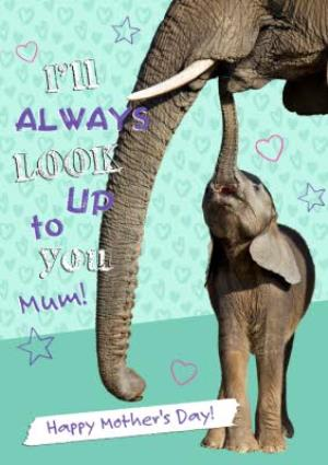 Greeting Cards - Baby and Mum Elephant Personalised Mothers Day Card - Image 1