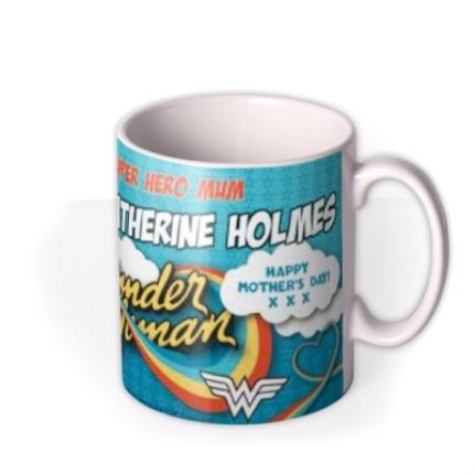 Mugs - Wonder Woman Superhero Mum Personalised Mug - Image 2