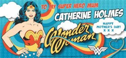 Mugs - Wonder Woman Superhero Mum Personalised Mug - Image 4