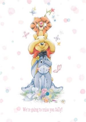 Disney Winnie The Pooh Tower Sorry You Re Leaving Card