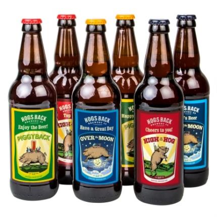 Alcohol Gifts - Exclusive Personalised Hogs Back Beer Six Pack - Image 1