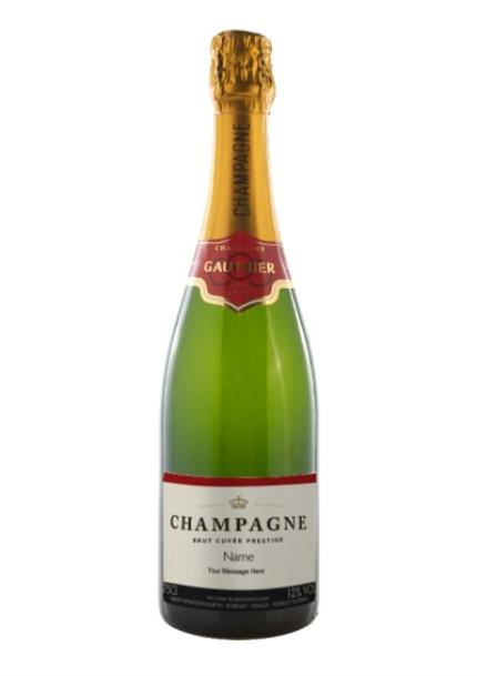 Alcohol Gifts - Personalised Gauthier Champagne  - Image 1