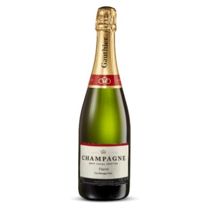 Alcohol Gifts - Personalised Gauthier Champagne 75cl - Image 1