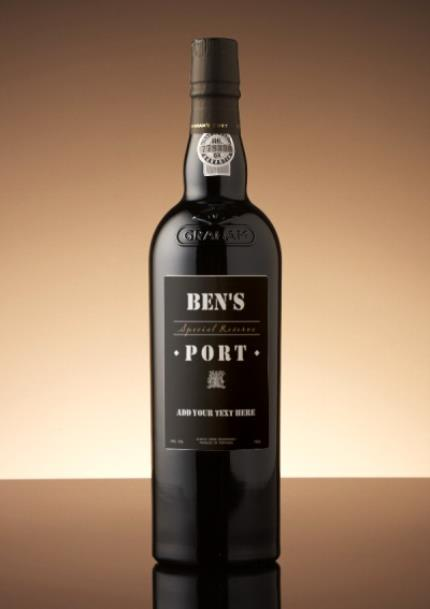 Alcohol Gifts - Personalised Port - Image 1