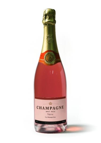 Alcohol Gifts - Personalised Gauthier Rose Champagne - WAS £36 NOW £30 - Image 1
