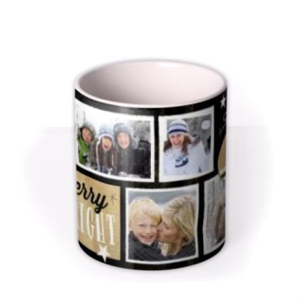 Mugs - Merry Christmas Black Tag Photo Upload Mug - Image 3