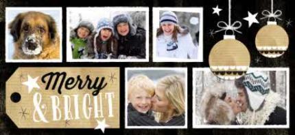 Mugs - Merry Christmas Black Tag Photo Upload Mug - Image 4