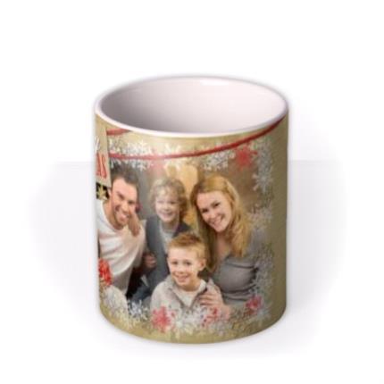 Mugs - Merry Christmas Snowflake Frame Photo Upload Mug - Image 3