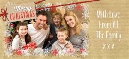 Mugs - Merry Christmas Snowflake Frame Photo Upload Mug - Image 4