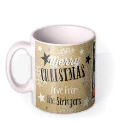 Mugs - Merry Christmas Baubles Photo Upload Mug - Image 1