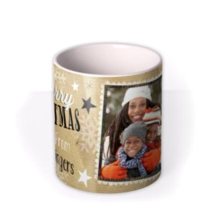 Mugs - Merry Christmas Baubles Photo Upload Mug - Image 3