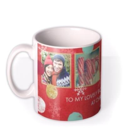 Mugs - Christmas Spots and Snowflakes Photo Upload Mug - Image 1