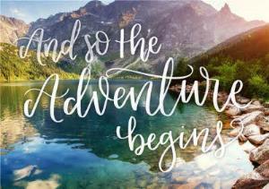 Greeting Cards - Landscape Adventure Begins Travelling Card - Image 1