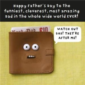 Greeting Cards - After Dad's Wallet Personalised Happy Father's Day Card - Image 1