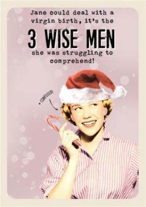 Greeting Cards - 3 Wise Men Joke Christmas Card - Image 1